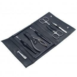 NEVADA XL juodas manikiūro rinkinys vyrams, natūralios  odos dėklas Solingen - 1