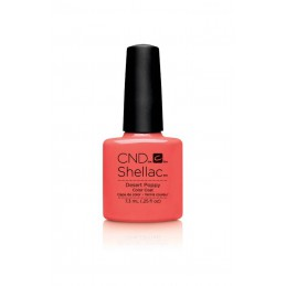 Shellac nail polish - DESERT POPPY